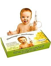 Baby Vac®. Originele neuszuiger voor baby's. Met 2 zuigkoppen en inbegrepen met gratis reinigingsborstel - klinisch geteste neus zuigpomp - de veilige en zachte baby neus zuigpomp voor elke stofzuiger