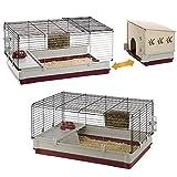 Krolik Extra-Large Rabbit Cage w/ Wood Hutch
