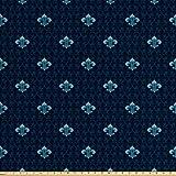 Lunarable Fleur De Lis Fabric by The