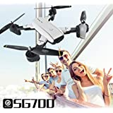RC Quadcopter Drones with Camera, SG700 Portable Foldable Quadcopter Drone 2.4Ghz 4 CH 360° Hold WiFi 2.0MP Optical Flow Dual Camera
