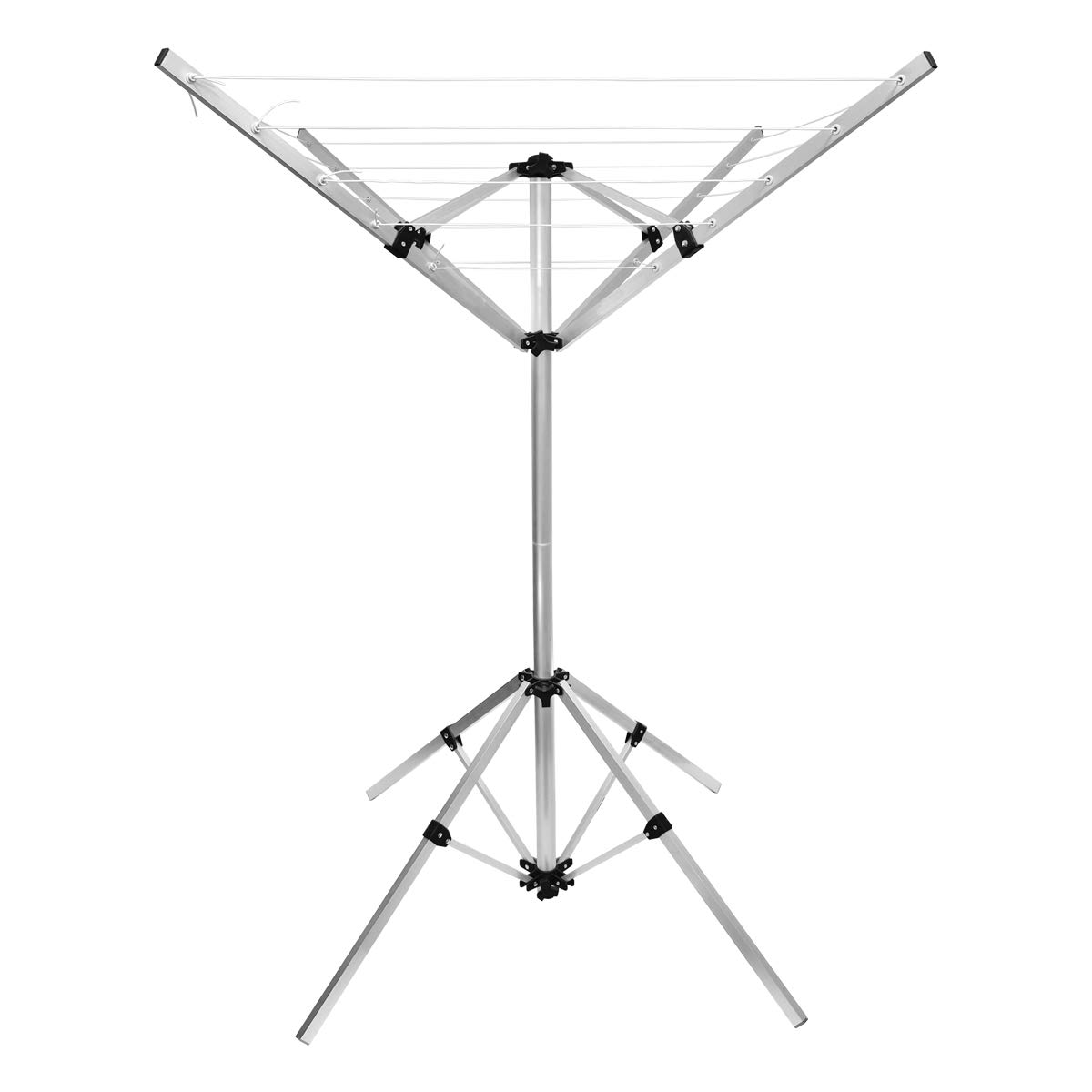 ECD-Germany Rotary 16m Mobile Drier 4 Arms 4 Legs Stabile Garden Laundry Airer WheaterProof ECD Germany