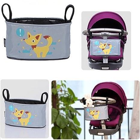 Homgaty bolsa para cochecito o silla de paseo para bebé para colgar, multi funciones, organizador, bolsa de almacenamiento Dog Pattern: Amazon.es: Bebé