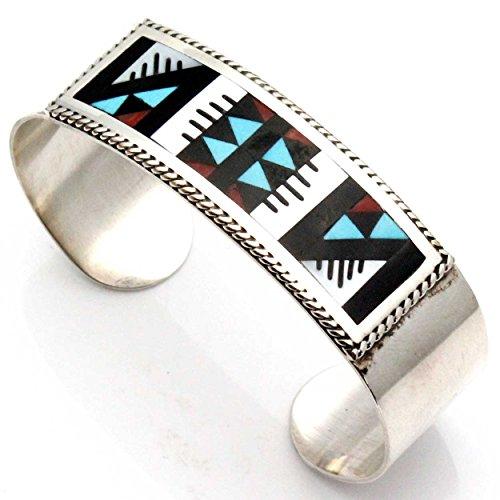 - L7 Enterprises Multi Stone Zuni Inlay Bracelet by Othole