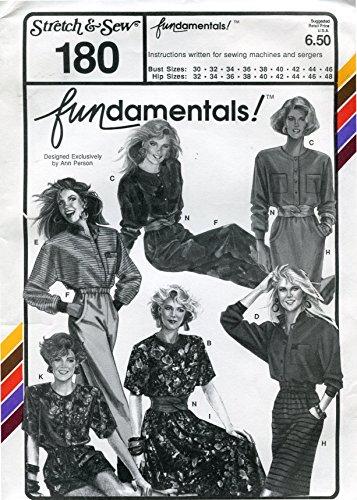 Stretch & Sew Pattern 180 ~ Misses' Fundamentals! Wardrobe ~ Bust 30-46 by Stretch & Sew