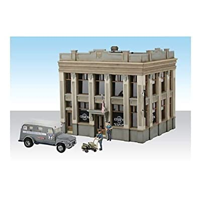 Woodland Scenics Built-N-Ready Citizens Savings & Loan 2-Story Building w/Acc. HO: Toys & Games