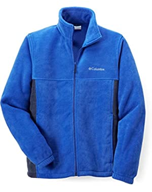 Columbia Men's Flattop Mountain Easy-Care Fleece Jacket, Blue/Black