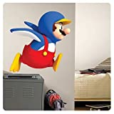 Super Mario Bros. Penguin Mario Giant Wall Decal (stands 34'' tall)