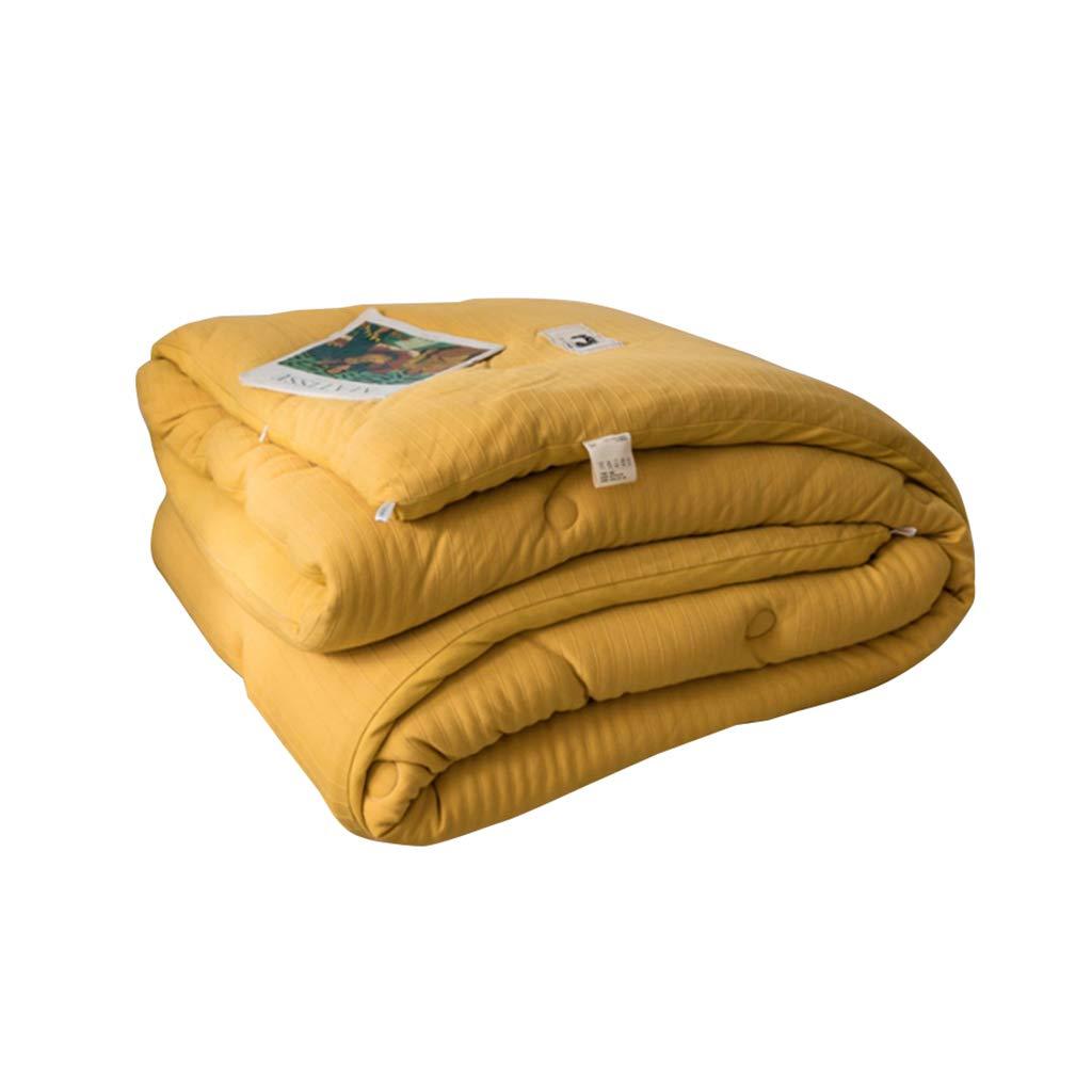 QFF-暖かく保つ エアコンキルト、黄色保温シングルシングル家庭用キルトホテルランチブレイク両面ソフトキルト エアコンキルト (サイズ さいず : 200*230CM-4.4KG) B07PGFB28Q  200*230CM-4.4KG