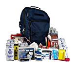 EQB Complete 72 Hour Survival Kit- Most Popular Bug Out Bag for 2 People (Emergency Food, Water, First-Aid, Shelter, Hand-Crank Phone Charger)