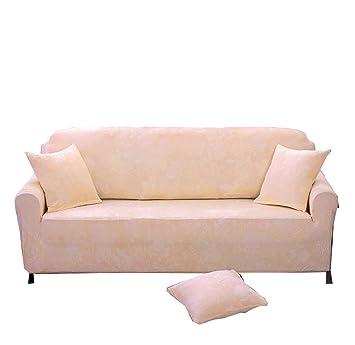 Plüschsofa Slipcover Stretch Haustier Sofabezugfeste Farbe Flecken