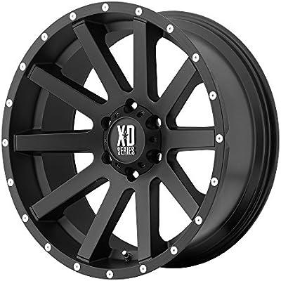 Amazon.com: XD Series by KMC Wheels XD818 Heist Satin Black Wheel With Milled Flange (20x9