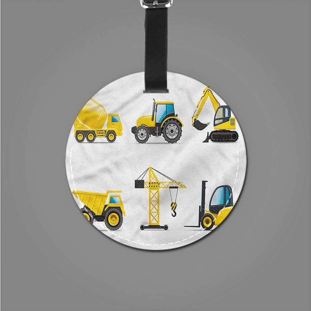 Hot sale 1pc Boys Room,Truck Crane Digger Mixer Address Tags