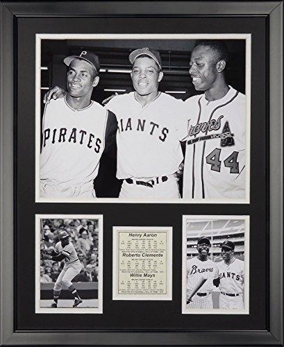 Legends Never Die Hank Aaron Roberto Clemente & Willie Mays Framed Photo Collage, 16