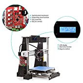 3D Printer A8 High Precision Large Size Desktop 3D Printer Kit Reprap Prusa I3 Upgrade DIY Self-Assembled LCD PLA/ABS Filament 1.75MM DIY 3D Printer Kit(220x220x240mm)