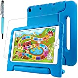 Protective Case for New iPad 9.7 Inch, iPad Air 2 with Screen Protector and Stylus, AFUNTA Convertible Handle Stand EVA Case, PET Plastic Cover and Touch Pen- Blue