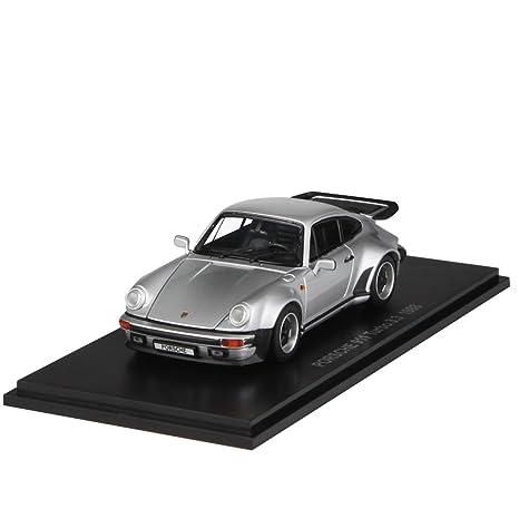 Kyosho Diecast 1988 Porsche 911 Turbo 3.3L (1:43 Scale), Silver