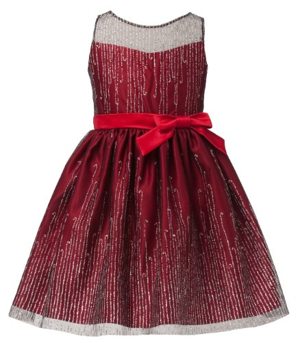 iGirlDress Swet Kids Stunning Icicle Glitter Mesh Holiday Flower Girl Dress. (16, Red) ()