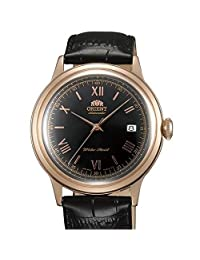 Orient Rose Goldtone Bambino Automatic Dress Watch with Black Dial, Roman Numerals #ER24008B