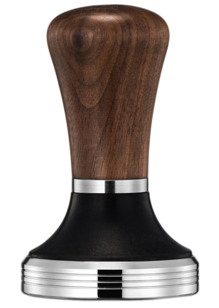 Diguo Elegance Wooden Coffee Tamper. Flat Espresso Tamper for 58mm Portafilter. Stainless Steel Flat with Height Adjustable Wooden Handle. Barista Espresso Tamper by Diguo