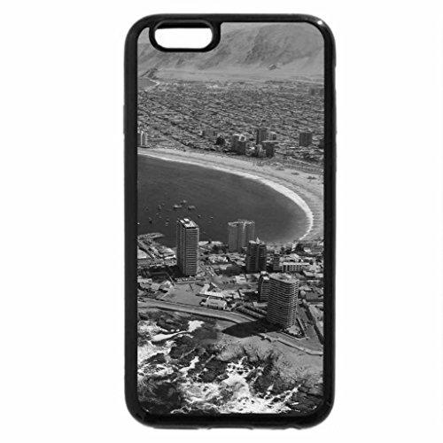 iPhone 6S Plus Case, iPhone 6 Plus Case (Black & White) - Cavancha beach, Iquique