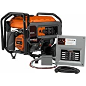 Generac 6865, 6500 Running Watts/8125 Starting Watts, Gas Powered Portable Generator, with 30-Amp HomeLink MTS