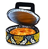 Picnic Plus Round Thermal Insulated Pie, Cake Carrier Holds Up To A 12''D Dish