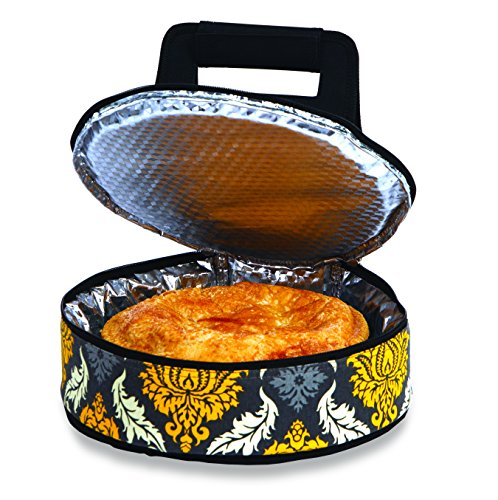 Picnic Plus Round Thermal Insulated Pie, Cake Carrier Holds Up To A 12