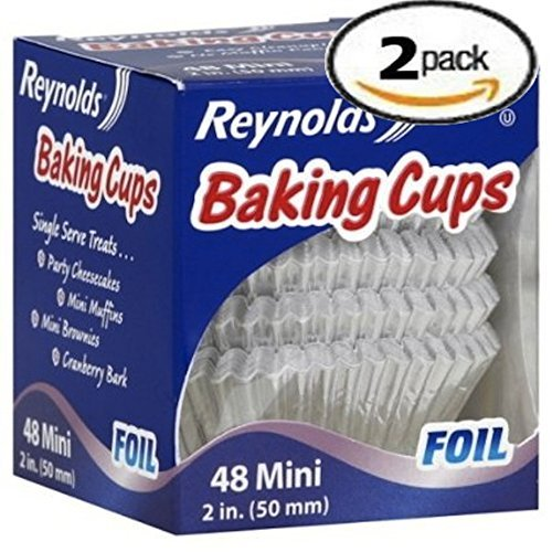 Reynolds Baking Cups Foil Mini 2-Inch 48 Ct-2 PACK (Reynolds Baking Cups Mini Foil 48 Count)
