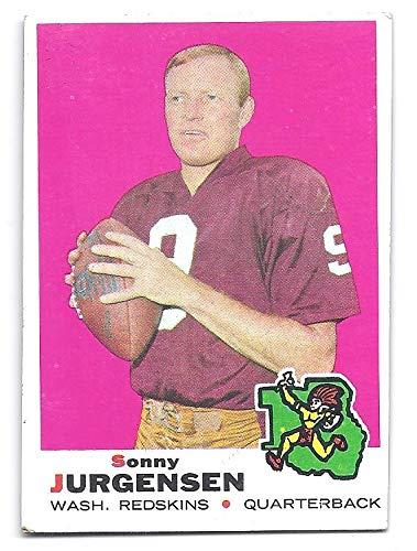 286a64fad SONNY JURGENSEN 1969 Topps  227 Card Washington Redskins Football at ...