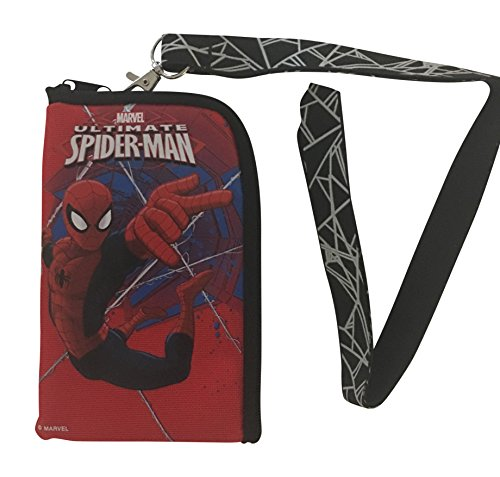 Ultimate Spiderman Lanyard with Detachable Coin Purse (RED)