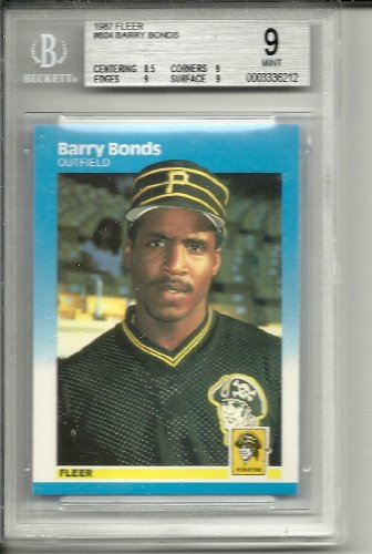 (1987 fleer barry bonds rookie graded bgs 9)