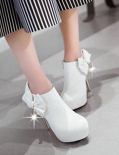 ShangYi Schuh Damenschuhe - High Heels - Hochzeit / Büro / Party & Festivität - Kunstleder - Stöckelabsatz - Absätze - Schwarz / Rot / Weiß White