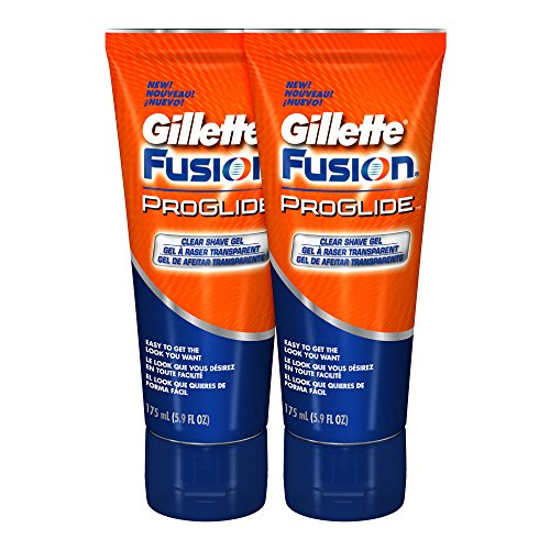 : Gillette Fusion ProGlide Shave Gel, Clear, 5.9 Ounce (Pack of 2)