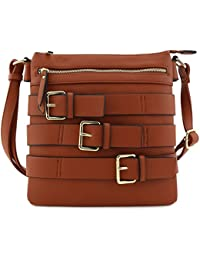 Belt Accent Large Crossbody Bag