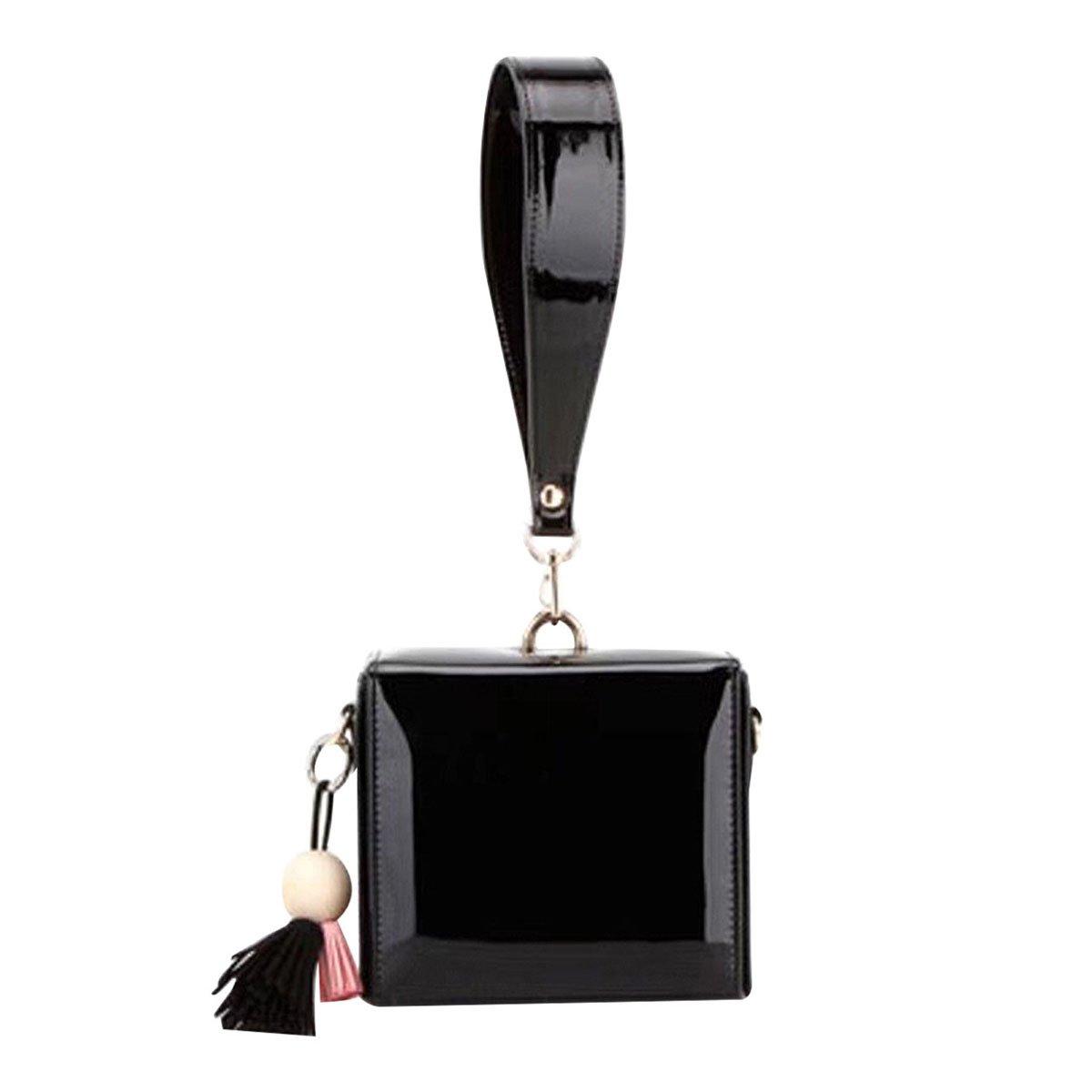 Heidi Bag Designer Tote Purse Patent Shoulder Top Handle Handbags Box Candy Clutch