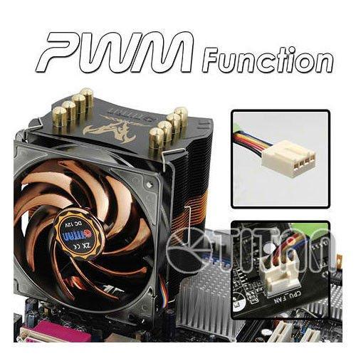 Titan FenRir EVO Multi Platform Universal 4 Heatpipe CPU Cooler w/120mm Silent Kukri fan 345T (Pci Cpu Pentium)