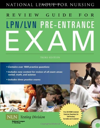 Review Guide for LPN/LVN Pre-Entrance Exam by National League for Nursing (COR)