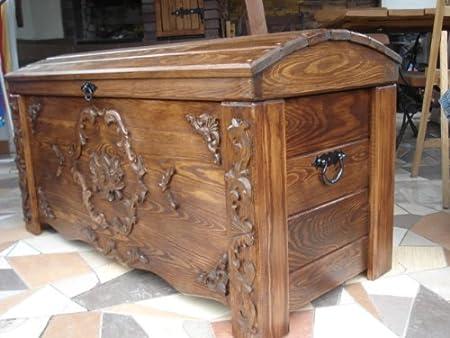 Decocraft Manta de Madera Caja de café Mesa Tronco Vintage Pecho ...