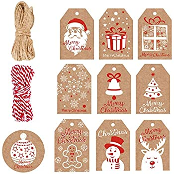 10 White I Wish It Could Be Christmas Every Day  Christmas Gift Tags   Handmade