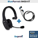 VXi BlueParrott B450-XT (204010) Noise Cancelling Bluetooth Headset with Wired Ear Buds (203720)