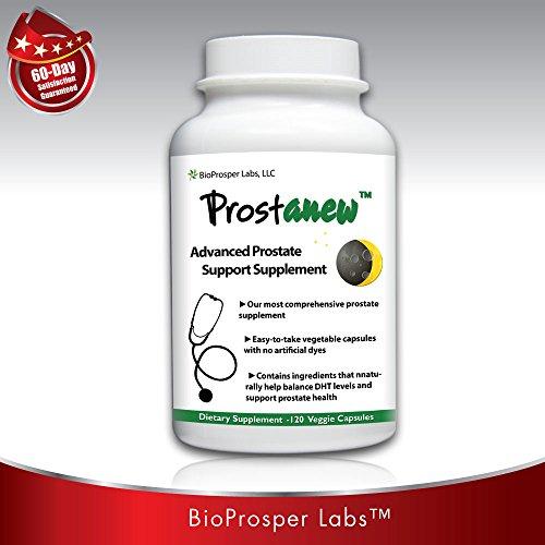 Prostanew 33 ingrediente suplemento próstata con Saw Palmetto y Beta-sitosterol para la salud urinaria y próstata 120 cuenta