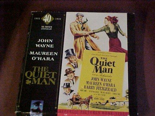 Laserdisc Box Set of John Ford's THE QUIET MAN with John Wayne, Maureen O'Hara, Victor McLaglen, Barry Fitzgerald, and Ward Bond.
