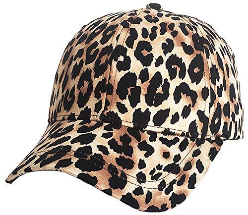 YI HENG MEI Womens Leopard Print Baseball Cap Sport Golf Ponytail Pony Sun Hat 15 -
