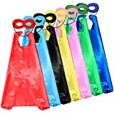 Child Superhero Capes and Masks DIY Dress Up Costume for Party Game (7 Capes & 7 Masks)