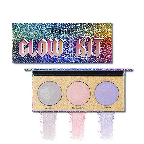 3 multi-dimensional shades Highlighter Palette Creamy Smooth Eyeshadow Cosmetic Set (Outlaw Body Kit)
