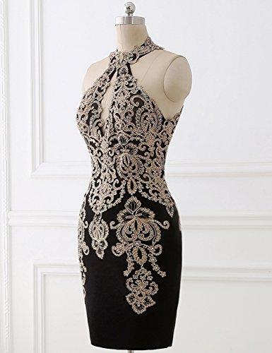 Lila Hohes Erosebridal Neck Abendkleid Kurzes Embellished XFw1wOUqS