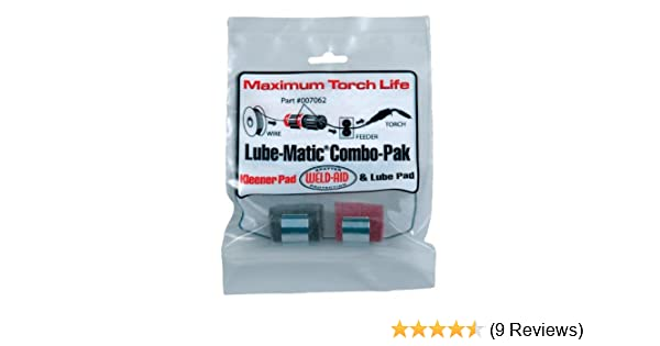 Weld-Aid 007062 Lube-Matic Combo-Paks One Red Wire Pad//One Black Lube Pad