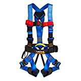 Fusion Climb Streak Racer Full Body Padded Zipline H Style Harness Blue Size M-L