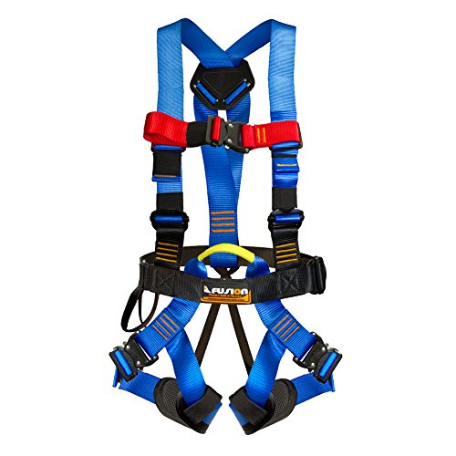 Fusion Climb Streak Racer Full Body Padded Zipline H Style Harness Blue Size M-L by Fusion