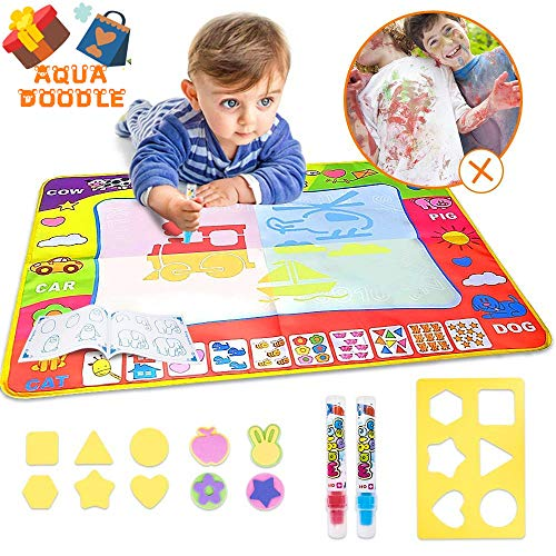 Aqua Magic Mat Kids Toys Large Water Doodle Mat with 4 Colors Water Drawing Mat Painting Educational Gift for Boys Girls Toddlers ( 31.5in X 23.6in ) by Taillansin